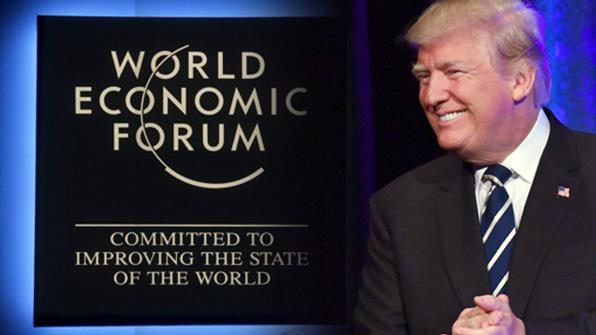 보호무역 폭탄 터뜨린 트럼프, 다보스서도 '미국우선주의' 천명?