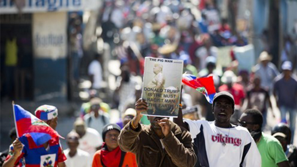 아이티 '반트럼프 시위' 확산에 미국 대사관 일시폐쇄