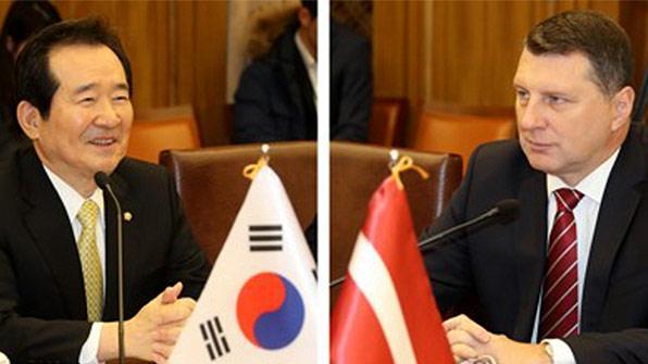"""정 의장, 라트비아 대통령 면담…""""남북 대화, 비핵화로 발전 노력"""""""