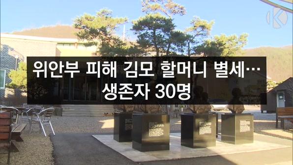 [라인뉴스] 일본군 위안부 피해 할머니 또 별세…생존자 30명