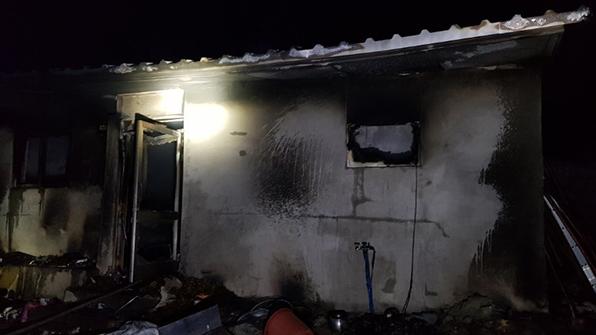 괴산서 주택 화재…2명 사상