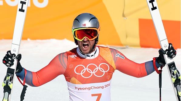 노르웨이 스빈달, 남자 스키 활강 금메달