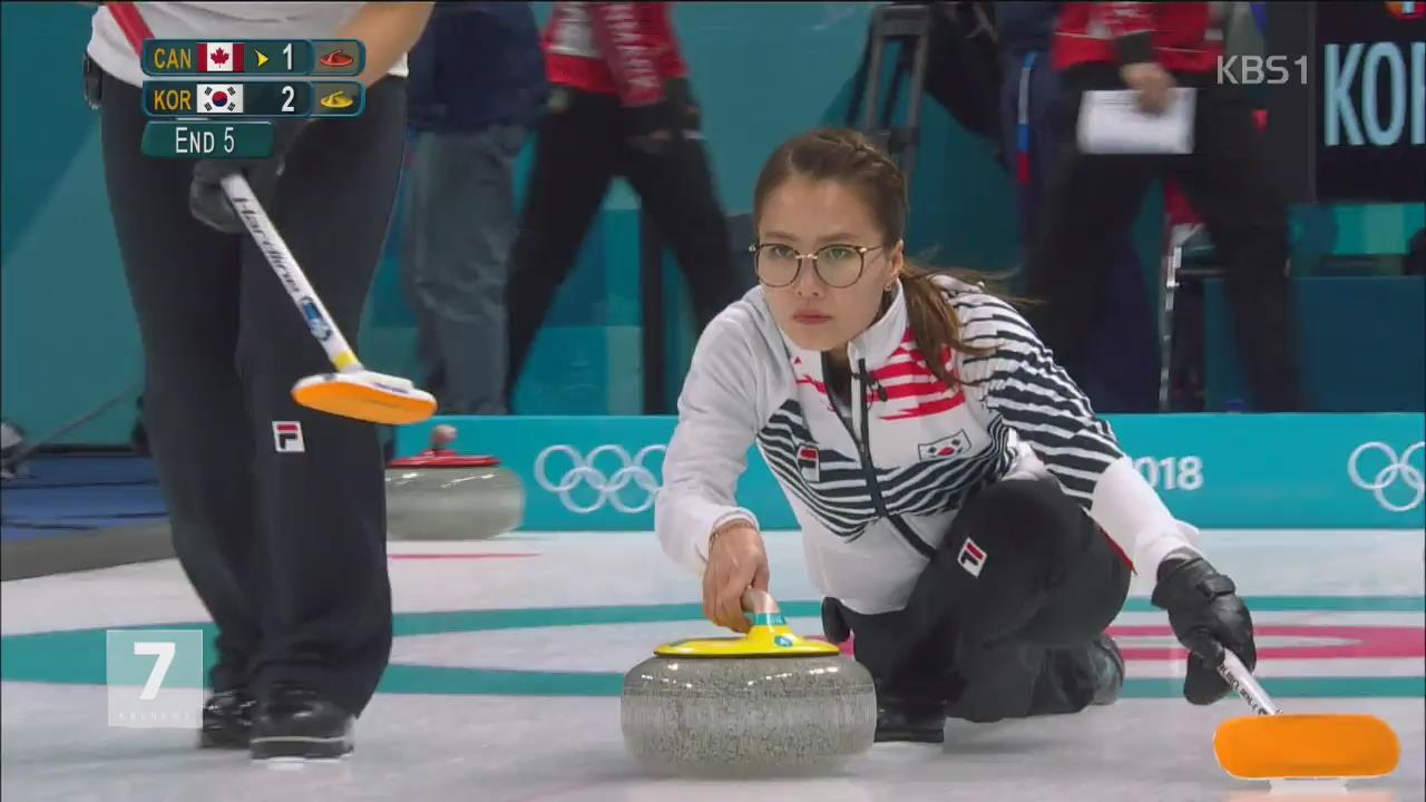 여자 컬링, 캐나다 꺾고 첫 승…알파인 스키 시프린 金