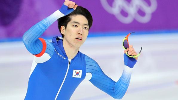 차민규, 스피드스케이팅 500m에서 '0.01초' 차이 은메달