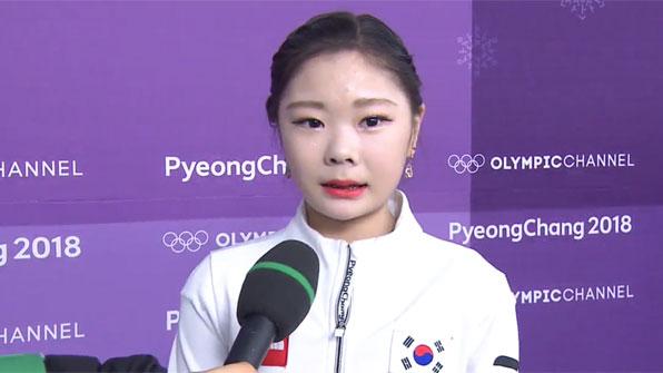 """[영상] 피겨 女싱글 김하늘 """"올림픽 무대는 나에게 큰 선물"""""""