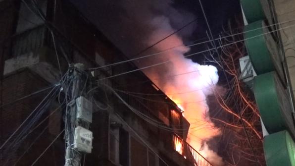 양천구 빌라 베란다서 불…10명 대피