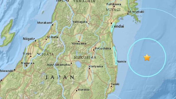 일본 후쿠시마 동쪽 해상서 규모 5.5 지진