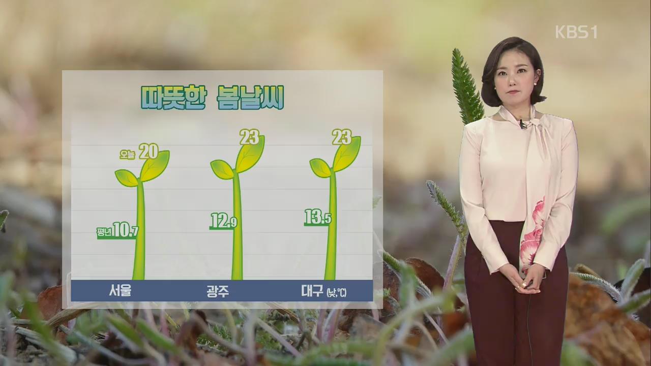 따뜻한 봄날씨 '서울 20도'…평년기온 10도 높아