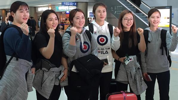 """'팀 킴' 여자 컬링, 이번엔 세계선수권 출격 """"최선 다하겠다"""""""