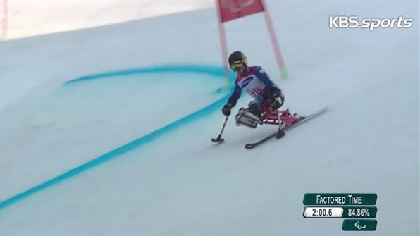 [영상] 패럴림픽 한상민, 알파인스키 대회전 좌식 11위