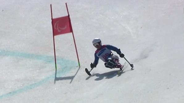 [영상] 이치원, 알파인 대회전 좌식 2차서 코스 이탈…실격