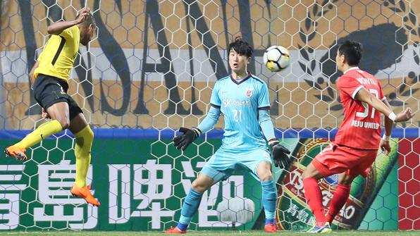 제주, 광저우에 0-2패…AFC 챔스리그 '꼴찌탈출 실패'