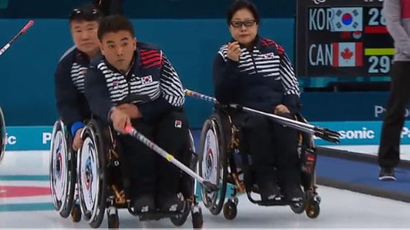 [H/L] 패럴림픽 휠체어 컬링, 캐나다에 져 4위로 마감