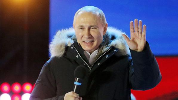 푸틴, 76.66% 득표율로 4선 달성…스탈린 이후 최장 집권