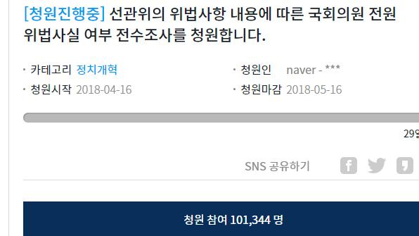 '국회의원 해외출장 전수조사' 국민청원 10만명 돌파