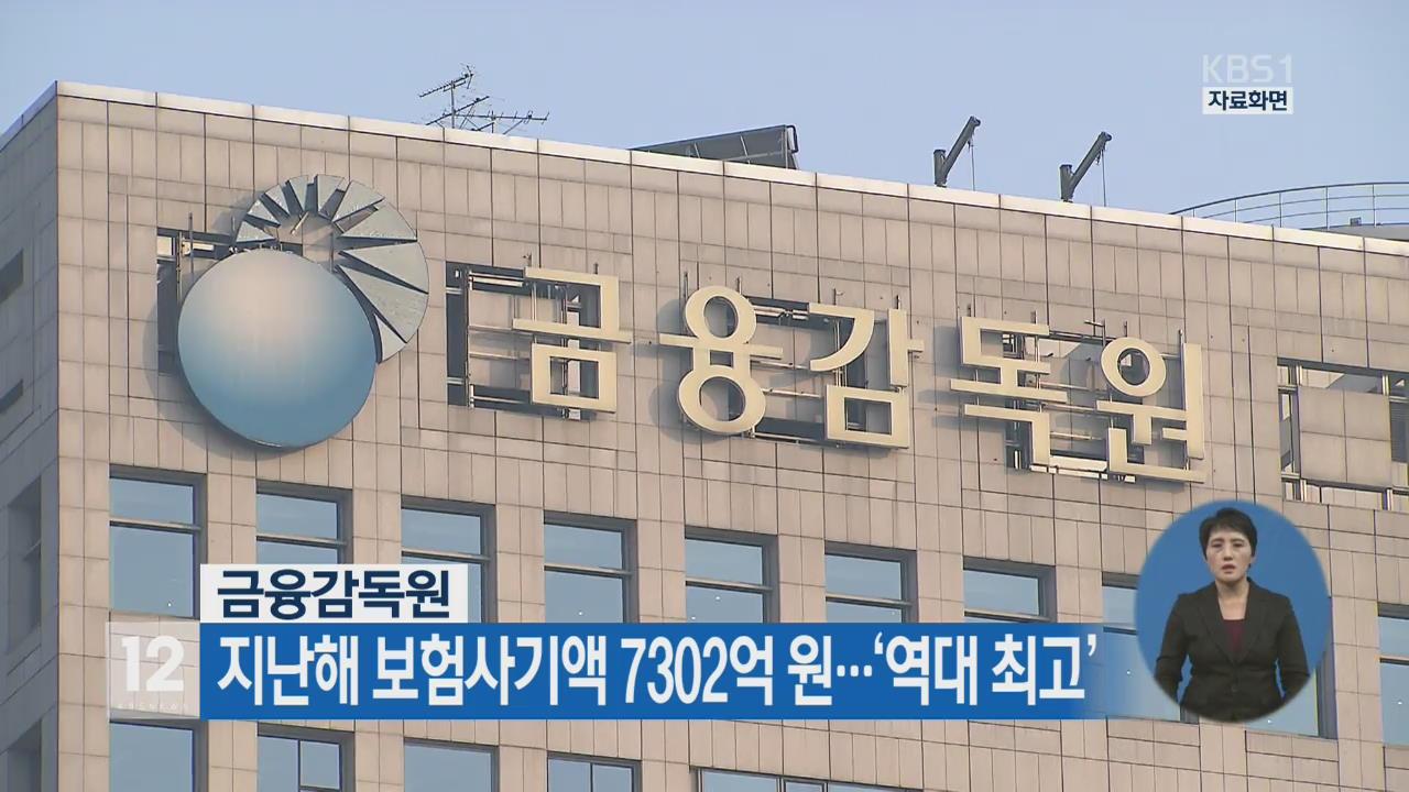 금융감독원, 지난해 보험사기액 7302억 원…'역대 최고'