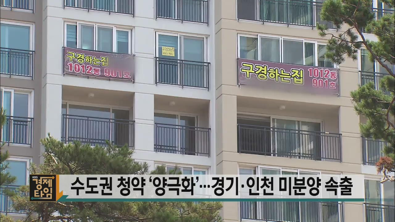 수도권 청약 '양극화'…경기·인천 미분양 속출