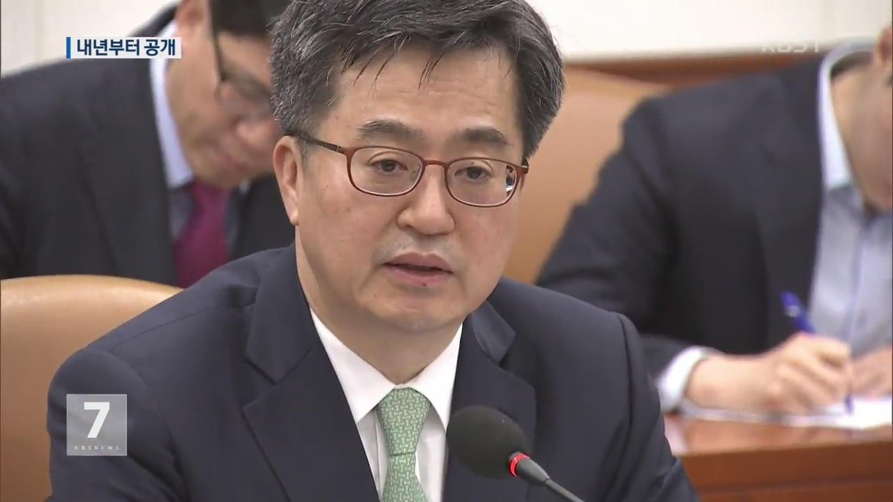 """정부 """"내년부터 '외환시장 개입 내역' 공개"""""""