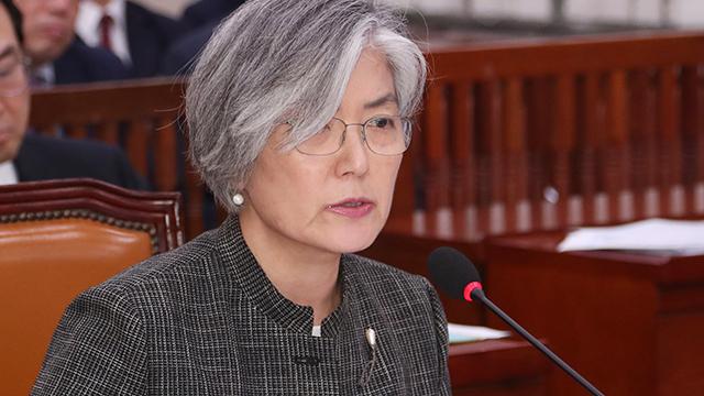 """강경화 """"비핵화 방법에 북미 간 이견 있지만, 완전한 핵폐기가 기본적 목적"""""""