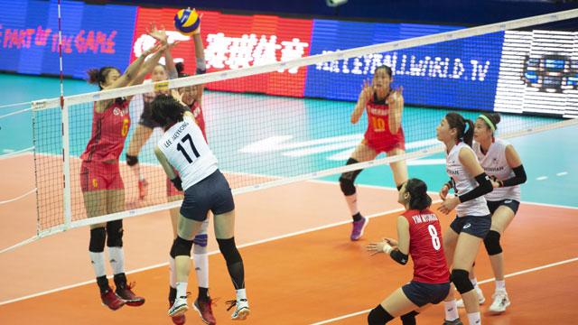 여자배구, 공수 완벽 조화로 세계 1위 중국 완파