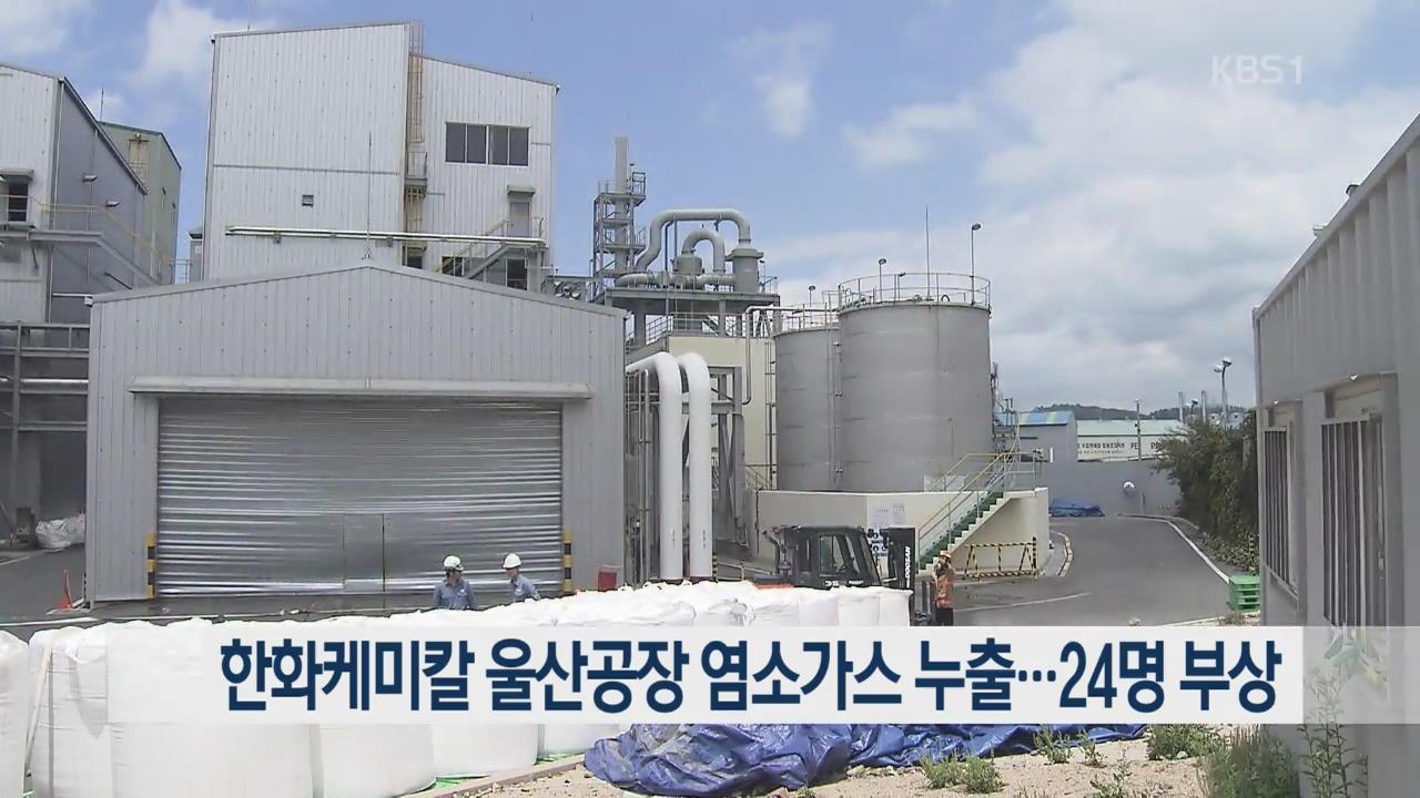 한화케미칼 울산공장 염소가스 누출…24명 부상