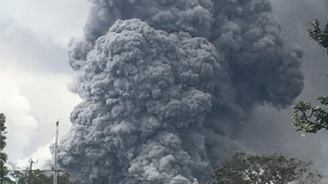 하와이섬 킬라우에아 화산 분출…9천m 가스기둥 치솟아