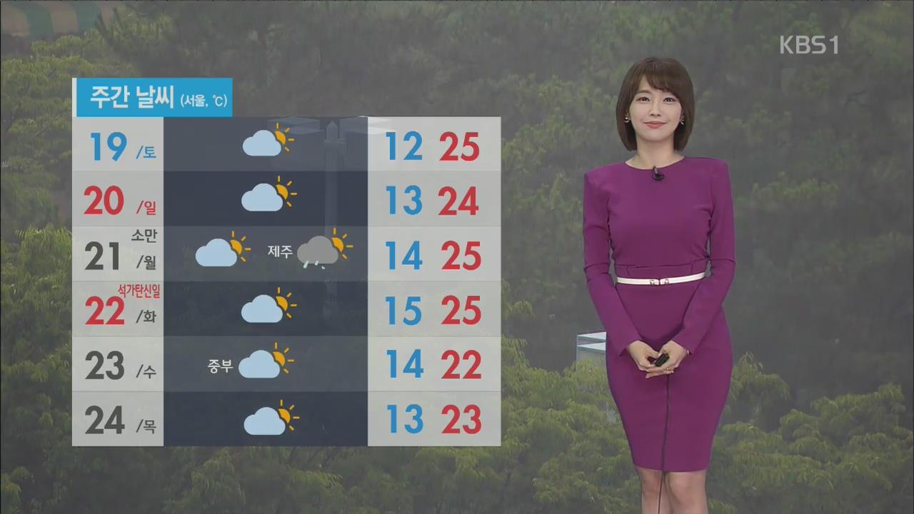 [날씨] 평창·영월 홍수주의보…오전 서쪽부터 비 그쳐