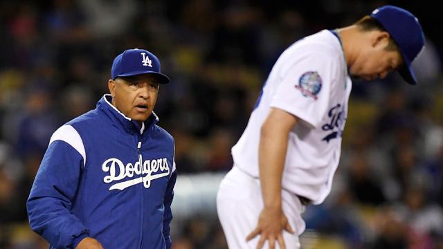 터너 5타점·마에다 8이닝 무실점…다저스, 6연패 탈출