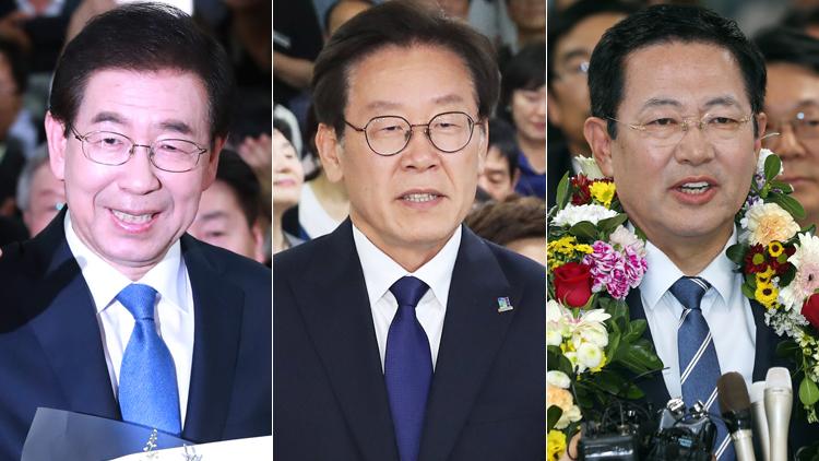 [영상] 박원순 서울시장·이재명 경기도지사·박남춘 인천시장 당선 소감