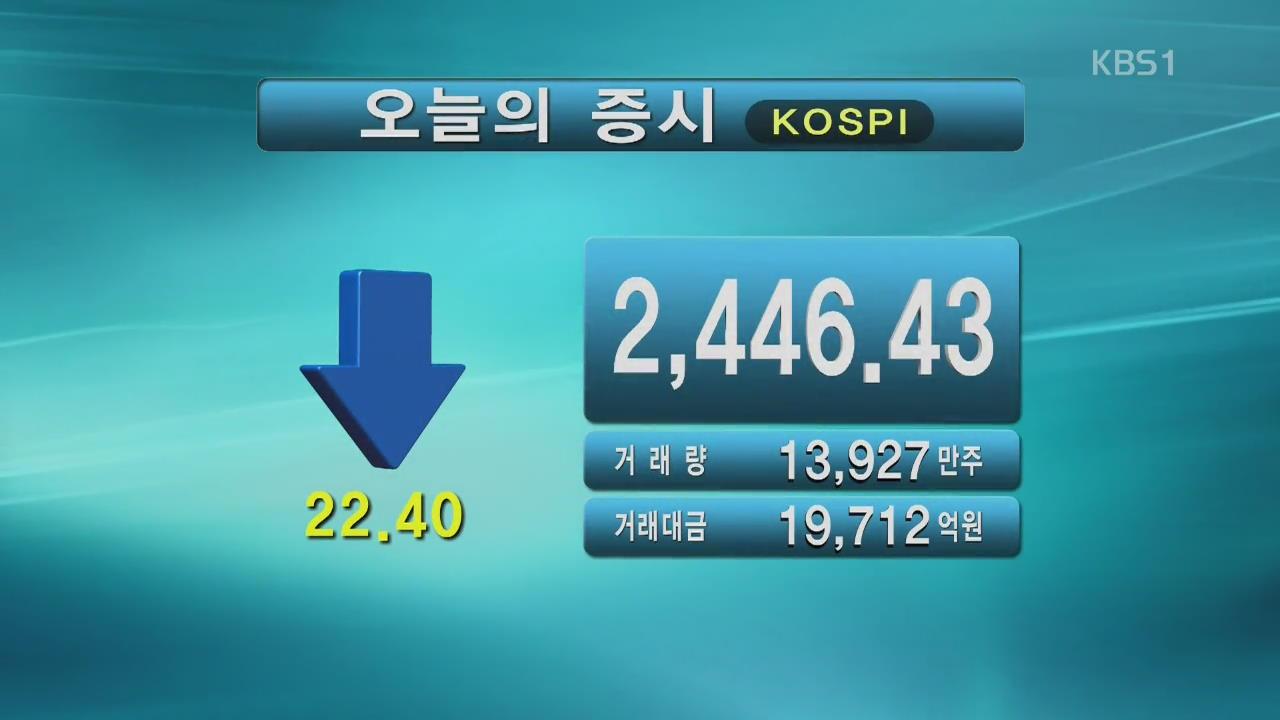 코스피 2,446.43 코스피 871.49