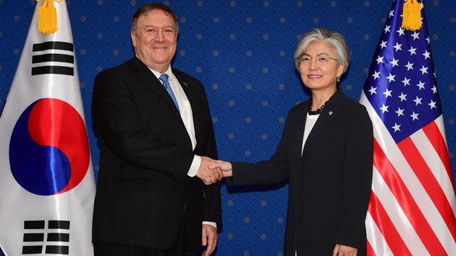 강경화-폼페이오 서울서 회담…북미 후속협상 관련 논의