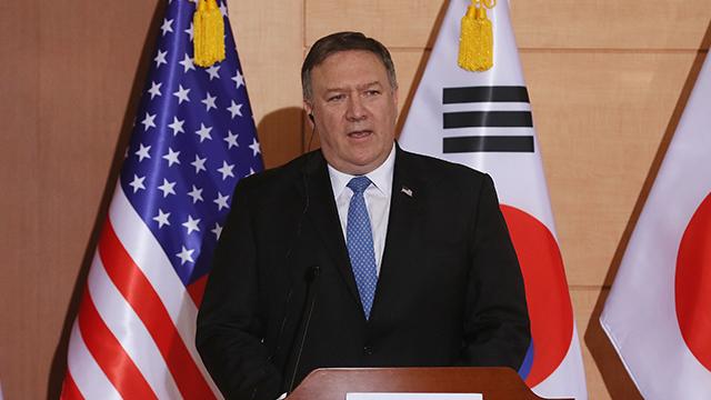"""폼페이오 미 국무 """"비핵화 이후에 유엔 제재 해제 이뤄질 것"""""""