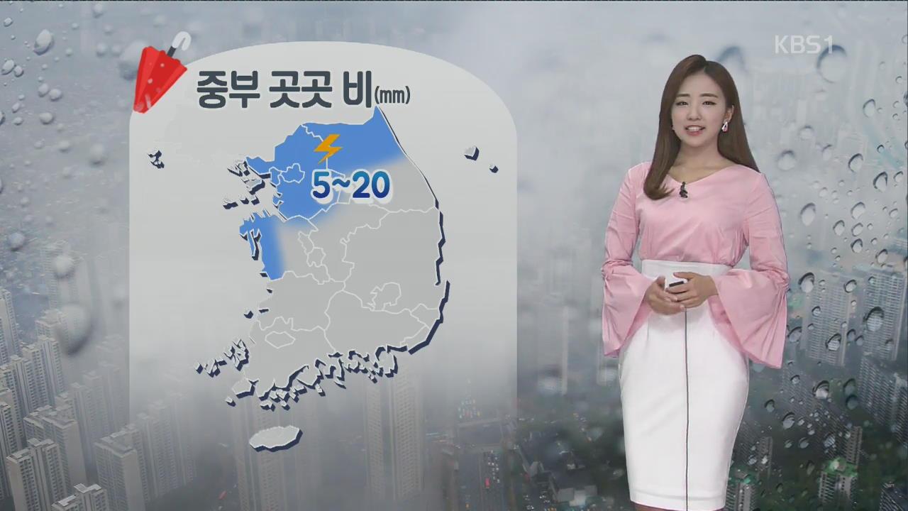 [날씨] 중부 오후까지 산발적 비…남부는 '맑음'