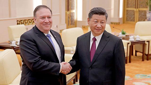 폼페이오, 시진핑에 '한반도 CVID 위한 미국의 의지' 전달