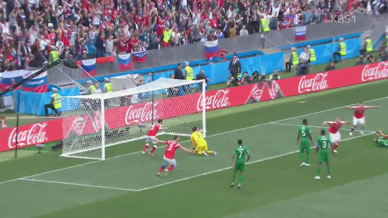 [영상] 러시아, 사우디에 5대 0…월드컵 개막전 대승