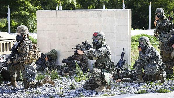 """국방부 """"한미 해병대 연합훈련 무기한 연기"""""""