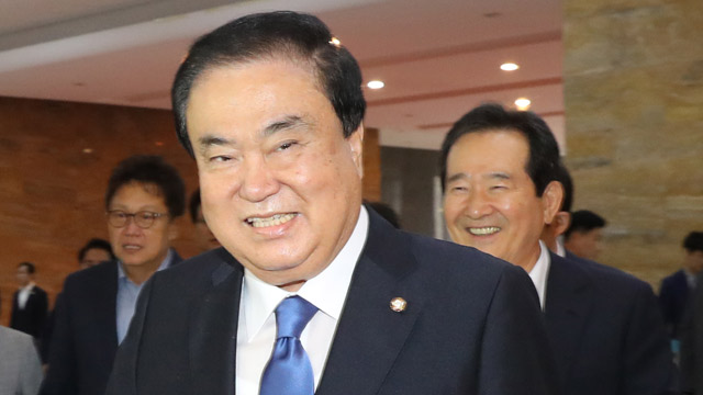 20대 국회 후반기 국회의장 문희상·부의장 이주영·주승용 선출