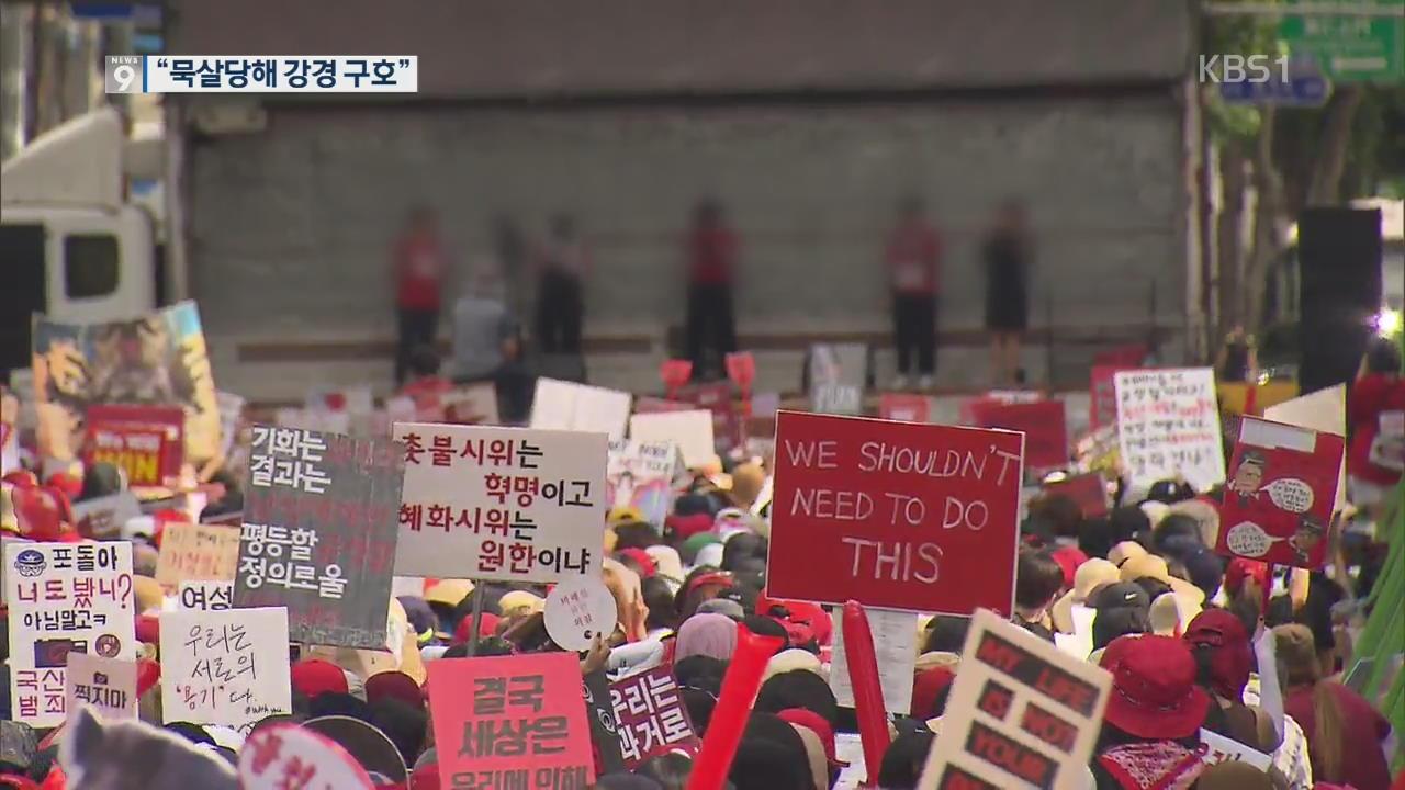 """여성집회 운영진에게 묻는다…""""혐오 표현, 공식 구호 아냐"""""""