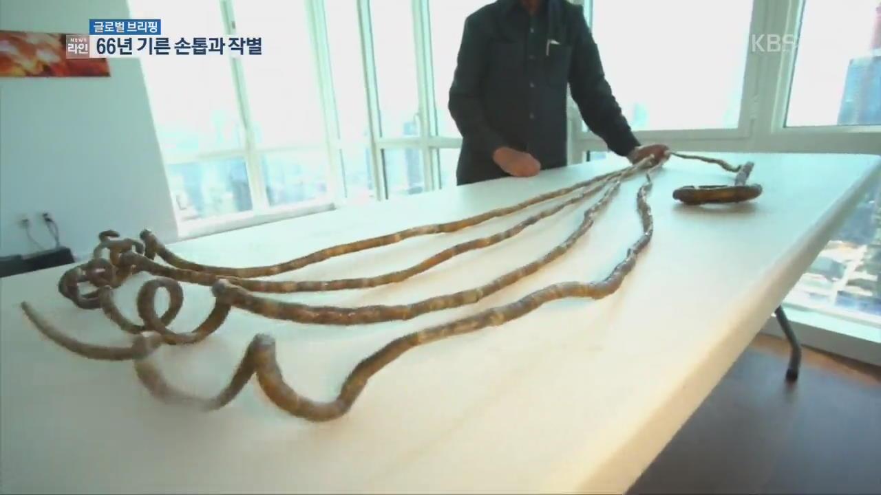 [글로벌 브리핑] '기네스 기록 손톱'…66년 만에 자른 남성