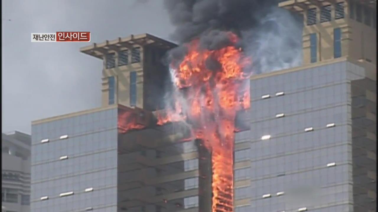 대형 건물 화재 시 올바른 대피법은?