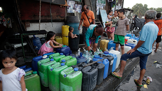 필리핀 마닐라 인근 물 부족 사태로 600여만명 고통…비상사태 선포설
