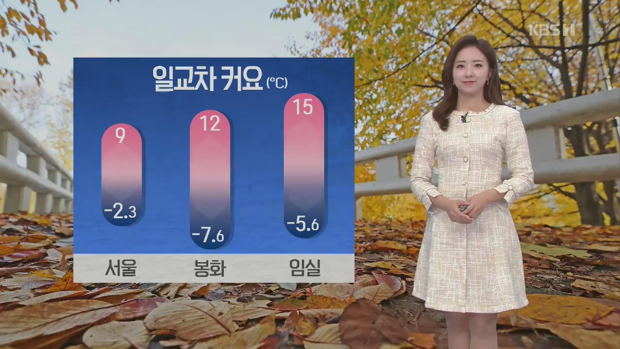 [날씨] 아침까지 영하권 추위, 낮부터 기온 올라