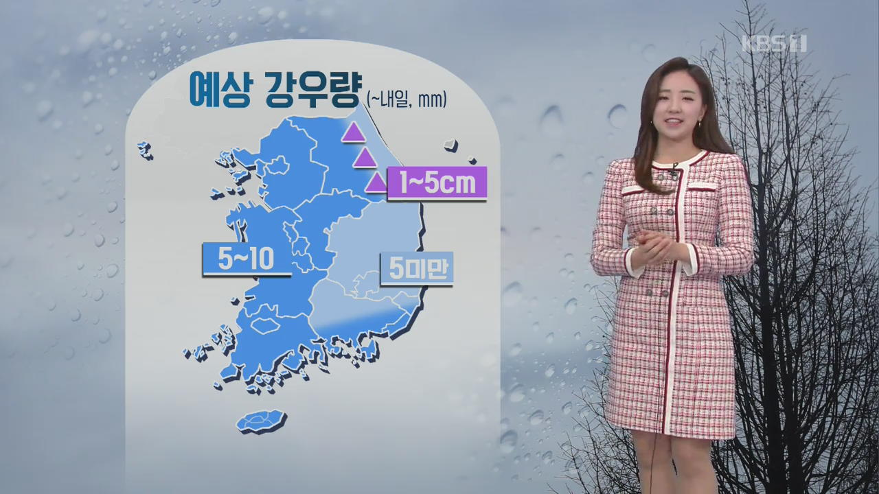 [날씨] 중부 미세먼지↑, 밤사이 전국 비