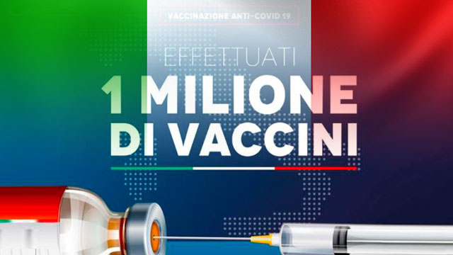이탈리아 코로나19 백신 접종자 100만명 돌파…EU서 처음