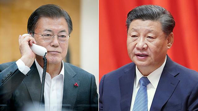 """시진핑, 문 대통령에 """"비핵화, 공동 이익에 부합…적극 지지"""""""