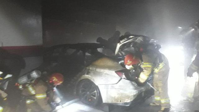 성남 오피스텔 주차장 승용차서 불…40대 여성 사망