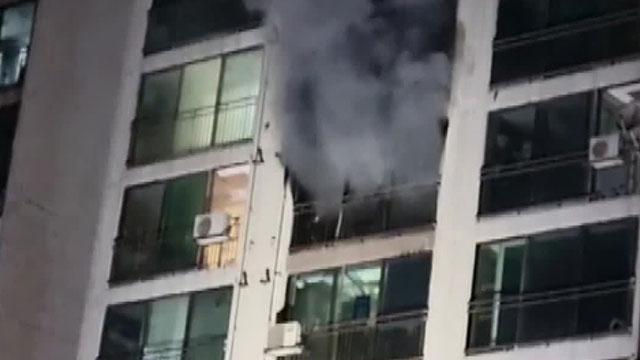 경기도 안성시 아파트 10층서 화재…주민 1명, 1~2도 화상 입어