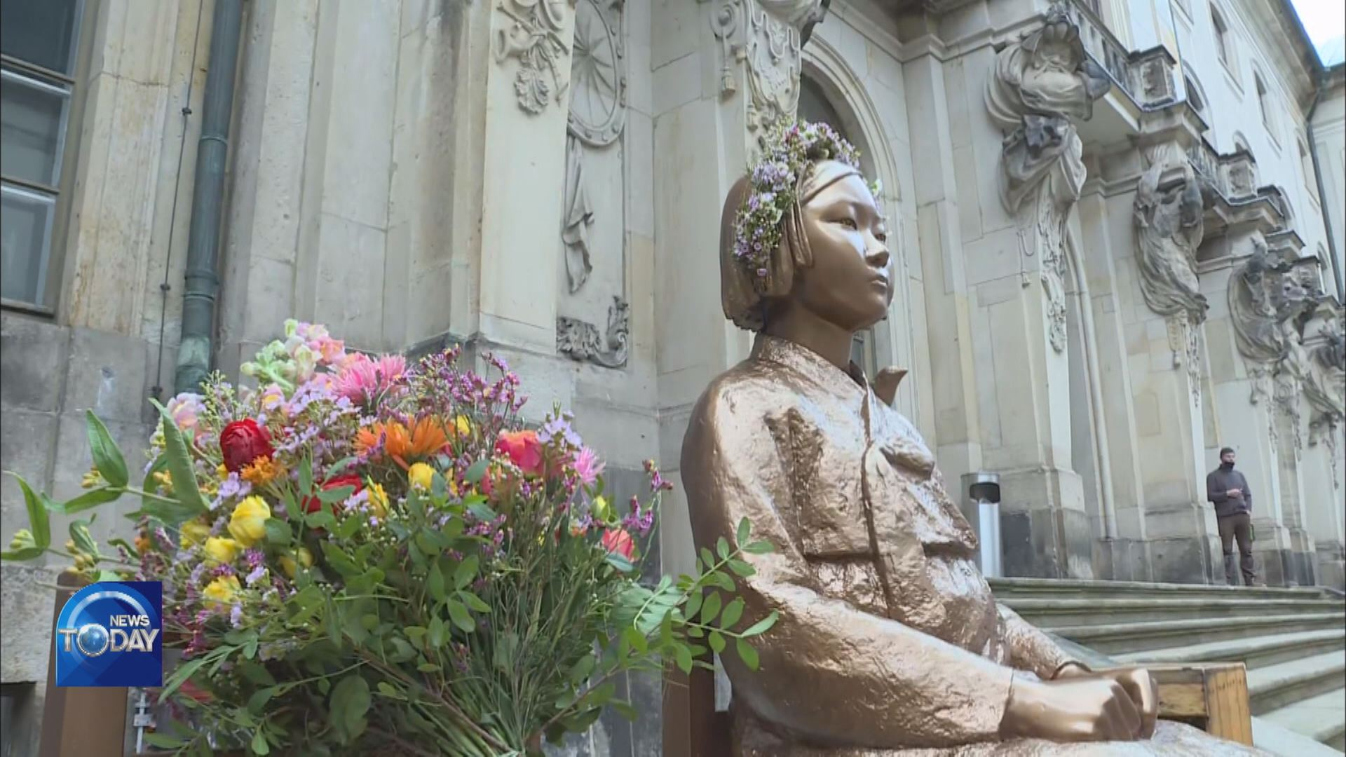 STATUE OF PEACE PLACED AT GERMAN MUSEUM