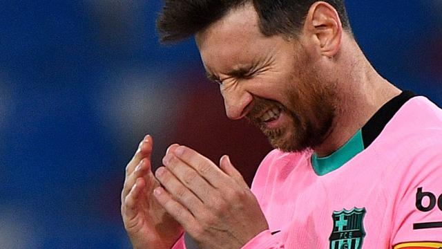 바르사, 메시 선제골에도 레반테와 3-3 무승부…우승 '빨간불'