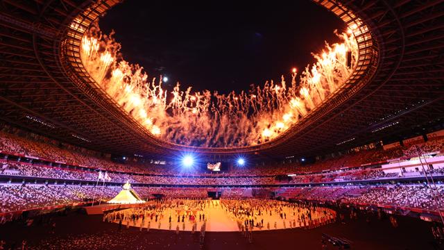 막 오른 2020 도쿄 올림픽…고요했던 개막식